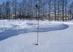 帯広の森雪中パークゴルフ場